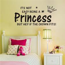 Shop Inspirational Wall Quote It S Not Easy Being A Princess Wall Sticker Overstock 14518071