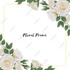 إطار زهرة مربع جميل مع باقة وردة بيضاء باقة أزهار جميلة أبيض