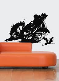 Motocross Wall Decal Dirt Bike Wall Sticker Motocross Etsy In 2020 Dirt Bike Room Wall Decals Ktm Dirt Bikes