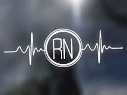 Heartbeat Rn Vinyl Decal Nursing Bumper Sticker Nurse Yeti Window Decal Ebay