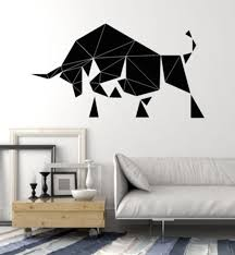 Abstract Bull Wall Decal Living Room Farm Animal Decals Polygonal Vinyl Stickers Bedroom Decoration Removable Art Mural Stickers For Home Decoration Stickers For House Walls From Joystickers 10 85 Dhgate Com
