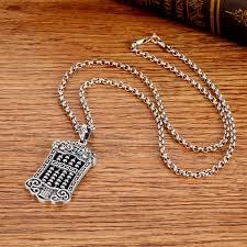 silver good luck pendant necklace
