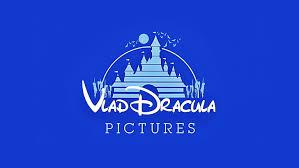 blue background castle dracula humor