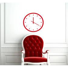 Shop Red Fake Wall Clock Vinyl Sticker Wall Art Overstock 10245976