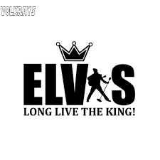 Volkrays Personality Car Sticker Elvis Presley Long Live The King Accessories Reflective Vinyl Decal Black Silver 9cm 14cm Car Stickers Aliexpress