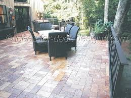instant paver deck on wood frame deck
