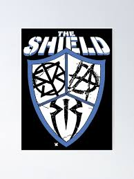 Wwe The Shield Logo Graphic Poster By Judeschimmel Redbubble