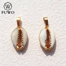 fuwo natural cowrie s gold dipped