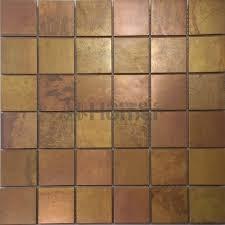 bronze mosaic tiles 48x48mm metal brass