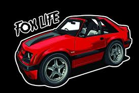 Mustang 5 0 Fox Body Window Sticker Decal For Outside Of Etsy