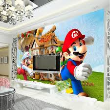 Super Mario Photo Wallpaper Personalized Custom 3d Wall Mural Game Wallpaper Childrens Room Boys Bedroom Room Decor Sofa Background Wall Images Wallpaper Images Wallpaper For Desktop From Fashion In The Box 23 23 Dhgate Com