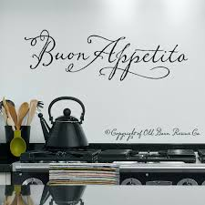Wall Decals Kitchen Buon Appetito Wall Decal Italian Wall Art Decals Wall Vinyl Wall Stickers Quotes Italian Wall Art Kitchen Wall Decals Decal Wall Art
