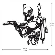 Star Wars Boba Fett Vinyl Wall Art Decal