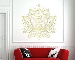 Lotus Wall Decal Etsy