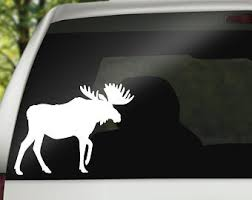 Moose Decal Etsy