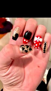 Disney nails coffin nails 3d nail art Mickey Mouse Minnie Mouse ...
