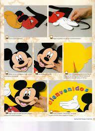Moldes Mickey Mouse En Foamy Molde De Mickey Mouse Mickey