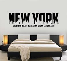 Vinyl Wall Decal New York Lettering Usa Big City Home Interior Sticker Wallstickers4you