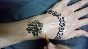 new arabic rose mehndi design