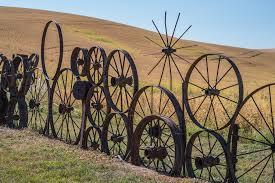 Dahman Barn Wagon Wheel Fence Uniontown Wa N H Flickr
