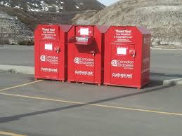 donation bins closed to donations