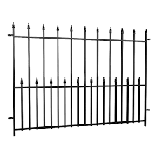 Peak Products Dig Free Fencing Victoria 4 Ft W X 3 Ft H Steel Fence Panel In Black The Home Depot Canada