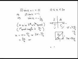 trig 05 solving trig equations