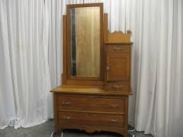 antique 70 oak dresser side mirror w
