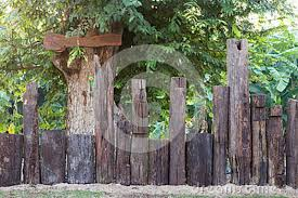 Fence Post Stumps With Signs Stock Photo Image Of Grunge Natural 87065058