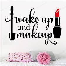 Salon Lipstick Make Up Wall Sticker Vinyl Wallpaper For Beauty Salon Girls Bedroom Decor Mural Poster Salon Shop Wall Decal Deals Wall Decal Decor From Joystickers 11 75 Dhgate Com