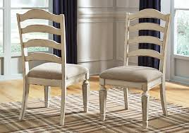 Realyn Chipped White Upholstered Dining Chair Cincinnati Overstock Warehouse