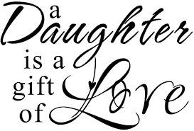 Amazon Com A Daughter Is A Gift Of Love Daughter Wall Decal Love Quotes For Girl S Room Brown Small Home Kitchen
