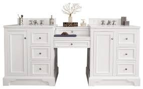 82 double vanity set bright white w