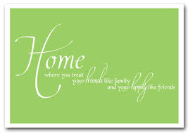 home family friends lime green text quotes framed art giclee art print