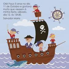 O Convite Da Festa Dos Piratas Tarjetas De Cumpleanos Para Ninos