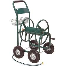liberty garden 4 wheel hose reel cart