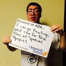 Because of ADA, Ryan can go bowling and run for the Blues at the Minnesota  Special Olympics. | Special olympics, Blues, Olympics