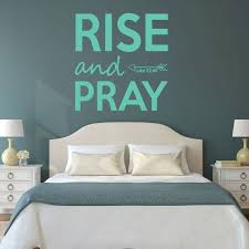 Luke 22 46 Rise Pray Bible Scripture Verse Vinyl Wall Decal Home Decor Customvinyldecor Com