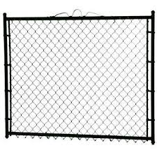 Black Chain Link Fence Gates Chain Link Fencing The Home Depot