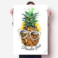 Diythinker Sunglasses Pineapple Tropical Fruit Vinyl Wall Sticker Poster Mural Wallpaper Room Decal 31x22 Large Wall Decals For Kids Large Wall Sticker From Diylab 19 9 Dhgate Com