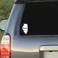 Illinois Home State Car Decal Sticker By Homelandtees On Etsy 6 95 Car Decals Stickers Car Decals Tennessee