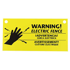 Zareba 680828 Ws3 3 Pack Electric Fence Warning Signs 3 On Galleon Philippines