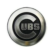 Chicago Cubs Logo 3d Chrome Auto Decal Sticker New Truck Or Car Hub City Sports