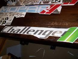Dodge Challenger Windshield Banner Sticker Decal R T Srt 8