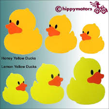Rubber Duck Decals For Cars Made Using Durable Colourfast Vinyl