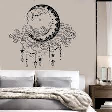 Vinyl Wall Decal Moon Clouds Bedroom Decor Stickers Mural Unique Gift Ig3694 Wall Decals Living Room Wall Painting Decor Room Wall Painting