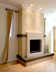 fireplace surrounds the interior