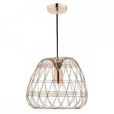 copper wire work ceiling pendant