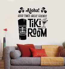 Vinyl Wall Decal Aloha Tiki Room Mask Bar Hawaii Cocktail Hawaiian Sti Wallstickers4you