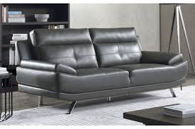 leather sofa bed grey firstgreenwood org